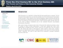 "International Conference ""From the 21st Century BC to the 21st Century AD: The Present and Future of Neo-Sumerian Studies"""